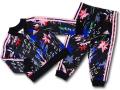 BO011 ベビー  adidas Infant Set アディダス ジャケット&パンツ セットアップ ベビー服 子供用 黒ピンク