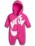 BT741 【メール便対応】 ベビー Nike Futura Infant Coverall ナイキ フード付き カバーオール ホットピンク白