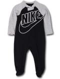 BT673 【メール便対応】 ベビー Nike Futura Infant Coverall ナイキ カバーオール 黒灰白