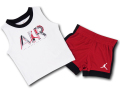 BT022 ベビー Jordan Infant Set ジョーダン ノースリーブ&パンツ セットアップ ベビー服 子供用 白赤黒 【メール便対応】