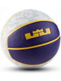 "BL057 Nike LeBron Playground Basketball ""Lakers"" ナイキ レブロン バスケットボール 6号球 白紫黄色"