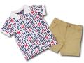 BO013 ベビー Tommy Hilfiger Infant Set トミー ヒルフィガー ポロシャツ&パンツ セットアップ ベビー服 子供用 白ウィート 【メール便対応】