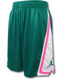 SJ837 メンズ ジョーダン バスケットボールショーツ Jordan Franchise Shorts バスパン ピーコックグリーン白ピンク