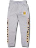 PK129 ジュニア UNK NBA Los Angeles Lakers アンク ロサンゼルス・レイカーズ スウェットパンツ キッズ 長ズボン 灰紫黄色