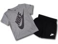 BY125 ベビー Nike Infant Set ナイキ トレーニングシャツ&パンツ セットアップ ベビー服 子供用 ダークグレー黒【ドライフィット】 【メール便対応】