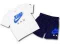 BT024 ベビー ジョーダン Tシャツ&パンツ セットアップ Jordan Infant Set ベビー服 子供用 白紺青 【メール便対応】