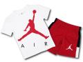 BP954 キッズ 子供用 ジョーダン Tシャツ&パンツ セットアップ Jordan Toddler Set 白赤黒 【メール便対応】