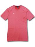 JN416 メンズ ジョーダン コンプレッション Tシャツ Jordan 23 Alpha Compression T-Shirt トレーニング アンダーウェア インフラレッド白【ドライフィット】 【メール便対応】