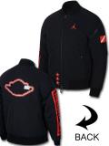 HJ885 メンズ Jordan ASW Graphic MA-1 Jacket ジョーダン 中綿ジャケット ボンバージャケット 黒インフラレッド