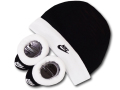 BA586 ベビー Nike Infant Set ナイキ 帽子&ソックスシューズ セット 赤ちゃん 靴下 黒白