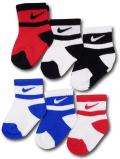 BA589 キッズ 子供用 ナイキ ソックス 6足セット Nike Socks リトルキッズ 靴下 白赤青【9~13cm】 【メール便対応】
