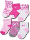 BA587 ベビー ナイキ ソックス 6足セット Nike Socks ベビー服 赤ちゃん 靴下 ピンク白灰 【メール便対応】