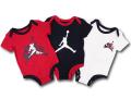 BT025 ベビー ジョーダン ロンパース 3枚セット Jordan Jumpman Classics Rompers 赤ちゃん ベビー服 赤黒白 【メール便対応】
