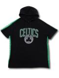 NB537 メンズ UNK NBA ボストン・セルティックス 半袖パーカー Boston Celtics Hoodie アンク フード付き スウェットシャツ 黒灰緑
