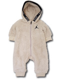 BT095 ベビー ジョーダン フード付き もこもこカバーオール Jordan Coverall ベビー服 赤ちゃん ベージュ黒