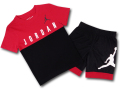 BP958 キッズ 子供用 ジョーダン Tシャツ&パンツ セットアップ Jordan Toddler Set 赤黒白 【メール便対応】