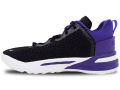 "KS751 キッズ/ジュニア Nike LeBron 18 (PS) ""Lakers"" ナイキ レブロン・ジェームズ バスケットシューズ バッシュ レイカーズ  黒コートパープル【箱なし】"