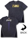 NB538 メンズ アンク NBA ロサンゼルス・レイカーズ トレーニングシャツ UNK Los Angeles Lakers ダークグレー黄色 【メール便対応】