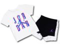 BT029 ベビー ジョーダン Tシャツ&ハーフパンツ セットアップ Jordan Infant Set ベビー服 子供用 白黒インフラレッド 【メール便対応】