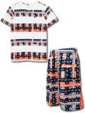 NK400 ジュニア ナイキ Tシャツ&ショーツ セットアップ Nike Youth T-Shirt Shorts キッズ ユース トップス バスパン 白黒オレンジ