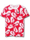 NK397 ジュニア ナイキ Tシャツ Nike Youth T-Shirt キッズ ユース トップス 赤白黒 【メール便対応】