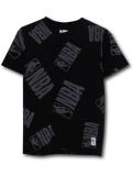 NK391 ジュニア NBA ロゴマン Tシャツ Logo Basketball Youth キッズ ユース トップス  黒灰 【メール便対応】