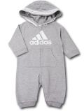 BO017 ベビー adidas Hooded Coverall Baby アディダス フード付きカバーオール ベビー服 赤ちゃん 灰白 【メール便対応】