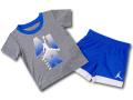 BP960 キッズ 子供用 ジョーダン トレーニングTシャツ&パンツ セットアップ Jordan Toddler Set ダークグレー青白【ドライフィット】 【メール便対応】