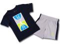 BP961 キッズ 子供用 ジョーダン Tシャツ&パンツ セットアップ Jordan Toddler Set 紺灰ネオングリーン 【メール便対応】