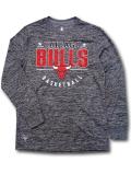 NB541 メンズ アンク NBA シカゴ・ブルズ ロングスリーブ トレーニングシャツ UNK Chicago Bulls ダークグレー赤 【メール便対応】