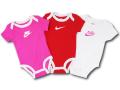 BY140 ベビー ナイキ ロンパース 3枚セット Nike Rompers Baby ベビー服 赤ちゃん ピンク赤白 【メール便対応】