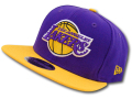 CN954 New Era NBA LA Lakers Snapback Cap ニューエラ ロサンゼルス・レイカーズ キャップ 紫黄色【サイズ調節ベルト付き】