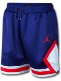 SJ842 Jordan Satin Diamond Shorts ジョーダン ショーツ 青白インフラレッド