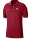 JP258 メンズ ジョーダン NCAA オクラホマ大学 スーナーズ カレッジポロシャツ Jordan Oklahoma Sooners Polo ワインレッド白【ルーズフィット】