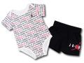 BT032 べビー ジョーダン ロンパース&パンツ セットアップ Jordan Rompers Set ベビー服 赤ちゃん 白黒赤 【メール便対応】