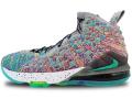 """KS760 キッズ/ジュニア Nike LeBron 17 XVII LJFF (GS) """"I Promise"""" ナイキ レブロン・ジェームズ バスケットシューズ バッシュ ネプチューングリーン白黒 【箱なし】"""