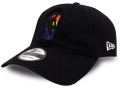CN187 ニューエラ NBA ロゴマン ストラップバックキャップ New Era Logo Strapback Cap 帽子 黒マルチカラー