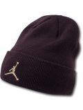 AJ113 ジョーダン ニットキャップ Jordan Beanie ビーニー 帽子 ボルドーメタリックゴールド 【メール便対応】