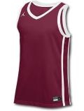 JN431 メンズ ジョーダン トレーニング ジャージ Jordan Stock Basketball Jersey ノースリーブ ボルドー白【ドライフィット】 【メール便対応】