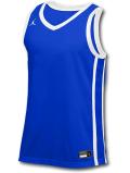 JN427 メンズ ジョーダン トレーニング ジャージ Jordan Stock Basketball Jersey ノースリーブ 青白【ドライフィット】 【メール便対応】
