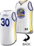 "KT089 キッズ/ジュニア Fanatics NBA Golden State Warriors Curry ""ステフィン・カリー"" ウォリアーズ レプリカユニフォーム 白青黄色"