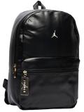 JB120 ジョーダン 合皮 リュックサック Jordan Faux Leather Backpack PUレザー バックパック 黒メタリックゴールド
