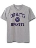 NK412 ジュニア NBA シャーロット・ホーネッツ Tシャツ Charlotte Hornets T-Shirt キッズ トップス 灰紫 【メール便対応】
