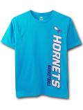 NK411 ジュニア NBA シャーロット・ホーネッツ Tシャツ Charlotte Hornets T-Shirt キッズ トップス ターコイズブルー白紫 【メール便対応】