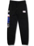 PK131 ジュニア NBA ロゴマン スウェットパンツ Basketball Youth Fleece Pants キッズ 長ズボン 黒白青
