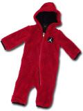 BT118 ベビー ジョーダン フード付き もこもこカバーオール Jordan Coverall ベビー服 赤ちゃん 赤黒