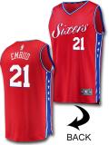 NB549 メンズ NBA シクサーズ ジョエル・エンビード レプリカジャージ Fanatics Joel Embiid Philadelphia 76ers Jersey ファナティックス ユニフォーム 赤青白