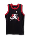 KT117 ジュニア ジョーダン メッシュジャージ Jordan Youth Jumpman Classics Jersey キッズ ノースリーブ 黒赤 【メール便対応】