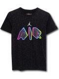 LL487 ジュニア ジョーダン Tシャツ Jordan Youth T-Shirt キッズ ユース トップス 黒白マルチカラー 【メール便対応】