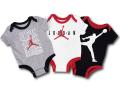 BT042 ベビー ジョーダン ロンパース 3枚セット Jordan Rompers 赤ちゃん ベビー服 灰白黒 【メール便対応】